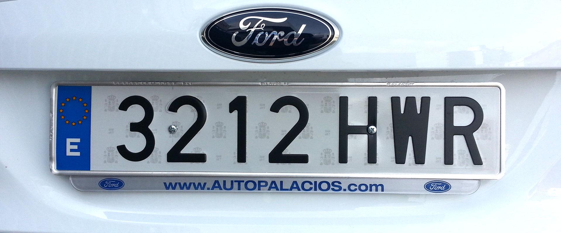 Portamatrículas coche sin marco acrílico-transparente · Mitoscar ...